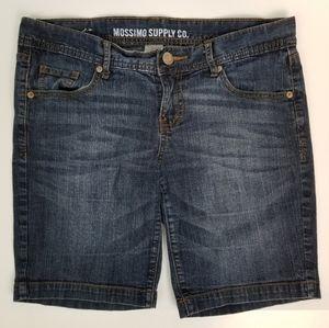 Mossimo Supply Jr 13 Dark Wash Bermuda Jean Shorts